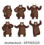 bear set on white background.... | Shutterstock .eps vector #457433125