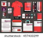 vector illustration of a set of ... | Shutterstock .eps vector #457433299