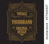 vintage badge  frame blackboard ... | Shutterstock .eps vector #457434337