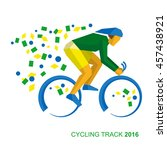 track cycling in the colors of... | Shutterstock .eps vector #457438921