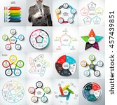 big set of vector arrows ... | Shutterstock .eps vector #457439851