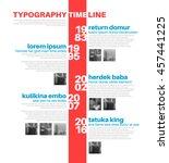 vector infographic typographic... | Shutterstock .eps vector #457441225