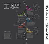 vector infographic timeline... | Shutterstock .eps vector #457441231
