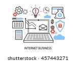 modern flat thin line design... | Shutterstock .eps vector #457443271