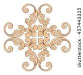vintage baroque ornament. retro ... | Shutterstock .eps vector #457443325