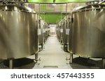 alley tanks of stainless steel... | Shutterstock . vector #457443355