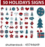 50 holidays signs. vector | Shutterstock .eps vector #45744649