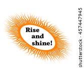 proverb framed in the sun.... | Shutterstock .eps vector #457447945