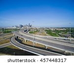 aerial view houston downtown... | Shutterstock . vector #457448317