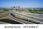 panorama aerial view houston... | Shutterstock . vector #457448617