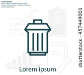 trashcan icon | Shutterstock .eps vector #457449001