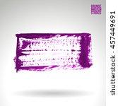 brushstroke and texture. vector ... | Shutterstock .eps vector #457449691