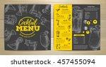 vintage cocktail menu design | Shutterstock .eps vector #457455094