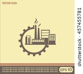 industrial icon | Shutterstock .eps vector #457455781