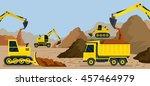 construction  earthworks ... | Shutterstock .eps vector #457464979