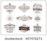 festive happy birthday... | Shutterstock .eps vector #457470271