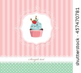 vintage greeting card template... | Shutterstock .eps vector #457470781