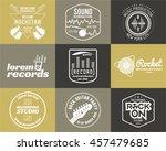 set of music production logo... | Shutterstock . vector #457479685