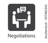 negotiation vector icon.... | Shutterstock .eps vector #457481341