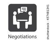 negotiation vector icon.... | Shutterstock .eps vector #457481341