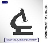 microscope icon | Shutterstock .eps vector #457482601