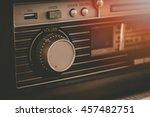 Close Up Of Vintage Music Radi...