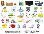 set of household appliances ... | Shutterstock .eps vector #457483879