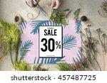 sale shopping discount... | Shutterstock . vector #457487725