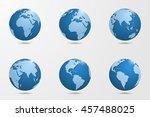 set of six high detailed vector ... | Shutterstock .eps vector #457488025