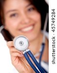 female doctor with a... | Shutterstock . vector #45749284