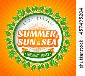 summer logo design elements for ... | Shutterstock .eps vector #457495204