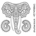 zentangle stylized ethnic... | Shutterstock .eps vector #457498861
