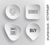 4 images  globe and handset ...   Shutterstock .eps vector #457499689