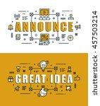 set of modern vector... | Shutterstock .eps vector #457503214