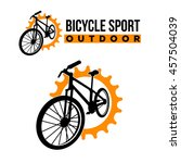 bicycle emblem logo template | Shutterstock .eps vector #457504039