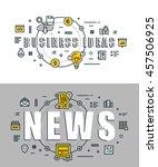 set of modern vector... | Shutterstock .eps vector #457506925