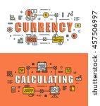 set of modern vector... | Shutterstock .eps vector #457506997