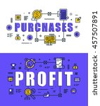 set of modern vector... | Shutterstock .eps vector #457507891