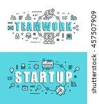 set of modern vector...   Shutterstock .eps vector #457507909