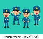 cartoon policeman character... | Shutterstock .eps vector #457511731