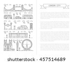 historical and modern symbols... | Shutterstock .eps vector #457514689