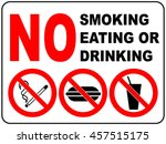 prohibition signs for smoking ... | Shutterstock .eps vector #457515175