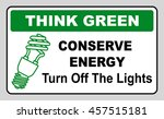 think green conserve energy... | Shutterstock .eps vector #457515181