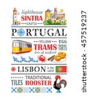 portugal text info paragraph | Shutterstock .eps vector #457519237