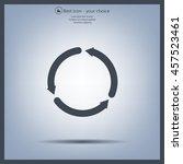circular arrows vector icon | Shutterstock .eps vector #457523461