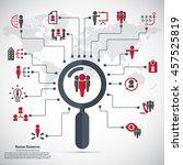 human resource   conceptual... | Shutterstock .eps vector #457525819