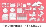 retail and wholesale kids shop. ... | Shutterstock .eps vector #457526179