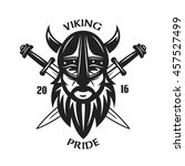 ancient viking head t shirt... | Shutterstock .eps vector #457527499