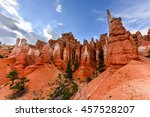 the amphitheater in bryce... | Shutterstock . vector #457528207