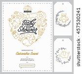 baby shower invitation... | Shutterstock .eps vector #457530241